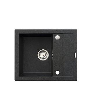 Zlewozmywak granitowy PYRAMIS STUDIO 59x48 1B 1D czarny