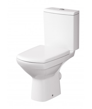 WC kompakt CERSANIT CARINA NEW 3/6L poziomy CLEAN ON + deska wolnopadająca K31-044