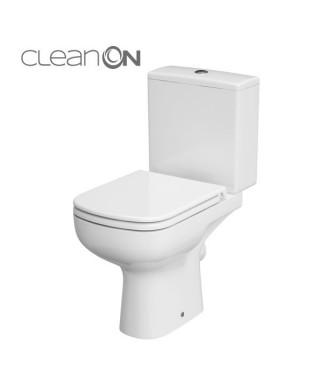 WC kompakt CERSANIT COLOUR 3/5L poziomy. clean on + deska wolnoopadająca K103-027
