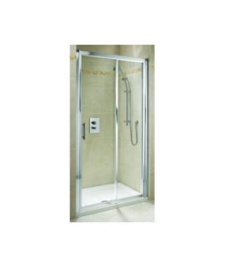 Drzwi rozsuwane KOŁO GEO 6. 110cm.szkło przezroczyste. profil srebrny połysk